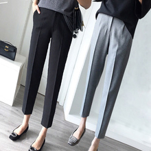 Women's Suit Pants Nine Minutes in Summer, Thin Pants, Large Professional Small-footed Pants, Small Eight Minutes of Cigarette Tube Pants