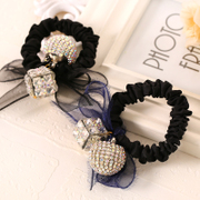 Know NI Juan organza Butterfly hair accessories Korean version first drill string ball rope tied her hair band head jewelry