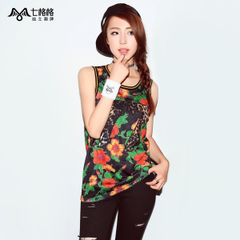 Princess pre-^@^ seven OTHERMIX2015 slim sport summer flower prints in new easing wind vest women