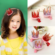Know Nicole small cute children''s Pearl Crown hair clips baby hair accessories girls '' jewelry