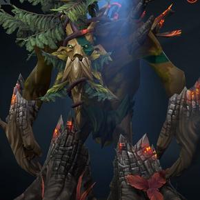 dota2灰烬之木大树套树精卫士套装大树灰烬套大树火