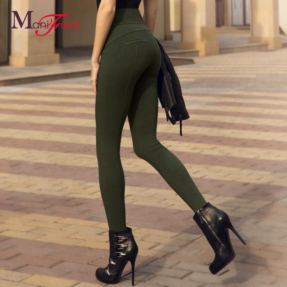 曼妮芬商场同款女士莫代尔保暖裤 中厚打底裤高腰打底裤 秋裤