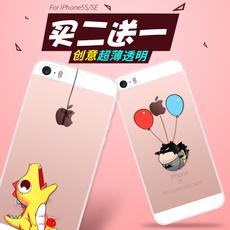 CITY&CASE iphone5s手机壳硅胶苹果5s软壳日韩卡通透明SE手机套
