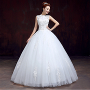 Bride wedding dress new 2015 fashion snap collar wedding dress one shoulder plus size slimming tail spring/summer