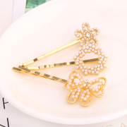 Know Richie Korean hair bow clip Clip clip Clip hair ornament hairpin cross rhinestone fringe clips