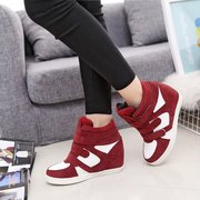 Autumn 2015 Korea increased spell color, thick-soled shoes sports shoes fashion casual shoes Velcro tide