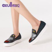 Exull q2016 new spring Lok Fu shoes casual tide Joker increased printing platform women shoes 16154422