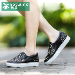Hot shoes spring new women style rivet Lok Fu shoes flat heel shoes shoes lazy people tide 61H5710