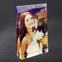 水晶照片摆件定做结婚婚纱相片定制diy相框摆台礼品生日礼物刻字