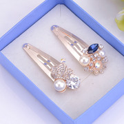 Fine jewelry fashion full diamond fashion clip clip Clip rhinestone hairpin simplicity hair ACC women