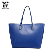 Wanlima/million 2015 new handbags for fall/winter fashion shoulder bag solid leather thread shoulder bag