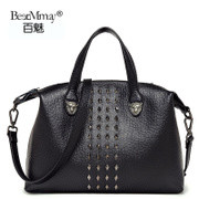 Hundreds of charming the new 2015 tide ladies bags leather Crossbody bag rivet bag balenciaga motorcycle bag bag