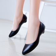 2016 new spring shoes low heels with pointy OL comfort fashion women shoes asakuchi leisure professional
