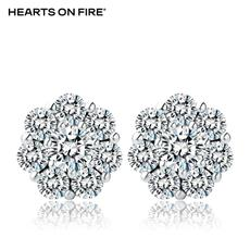 「HOF」Hearts On Fire 新品白色18K金15分钻石耳钉UU 135