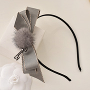 CONTRACT WORLD/contract decorated fur winter hair rabbit fur headband elegant high grey-headed buckles