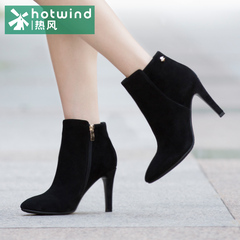 Hot sexy boots casual shoes with pointed high heel stiletto tide girls Sheepskin fleece ankle boots H87W5402