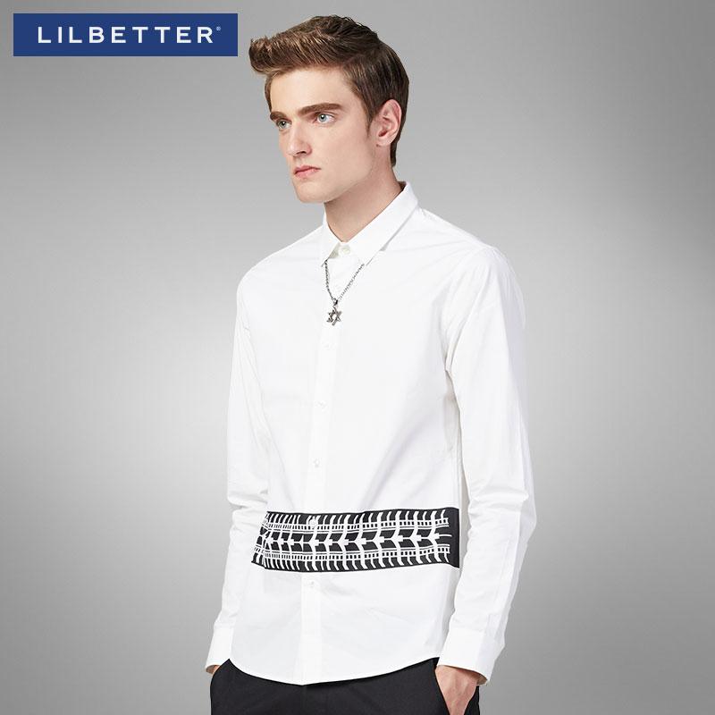 Lilbetter白衬衫男长袖 春季青少年休闲寸衫牛津纺休闲男士衬衣潮