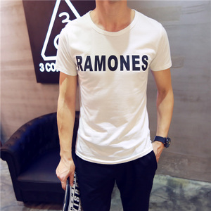 The new summer 2015 men's short sleeve T-shirt short-sleeve vintage men's round neck Korean summer tide compassionate Tops