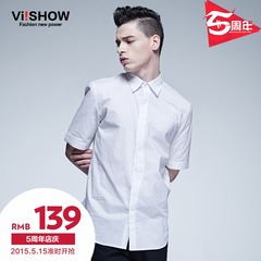 Viishow2015 summer dress new style short-sleeved shirt in Europe and simple white shirts with short sleeves shirt and comfortable Joker
