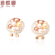 Ya na jewelry Korean version of the new temperament female classic pearls round Stud Earrings