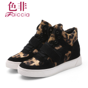 Fall/winter non-platform high shoes high sneaker casual shoes flat shoes wedges shoes 4C05