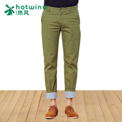 Hot spring and the spring and autumn new style men's pants slim cotton canvas men's straight simple and casual trousers men 04W5102