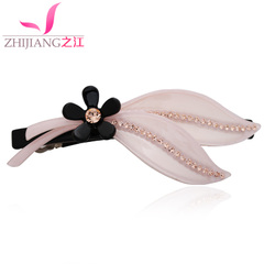 River clip hair hair bangs clips hair accessory Korea Korean ponytail with flower flowers jewelry tiara