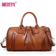 Fall/winter leather women bag 2015 new pillow Europe Boston bags ladies bags handbags women's shoulder bags