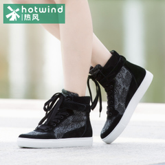 Hot air system with velcro closure high with flat Spring College wind casual shoes for fall/winter shoes women shoes H13W5405
