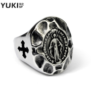 YUKI men''s fashion Jesus titanium steel ring Europe and America index finger ring ring ring boys and girls ring