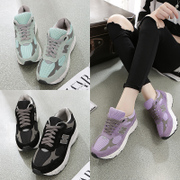 Fall/winter sneakers women stealth increases in the Korean version of low top sneakers platform wedges shoes student Korea shoes