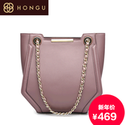 Honggu red Valley woman Shoppe new European fashion light luxury chain shoulder bag for fall/winter party for 7899