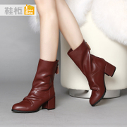 Shoebox shoes with shoe 2015 New England simplicity fringed back zipper boots with 1115505282