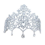 Good amount of pretty roses dripping bridal tiara Crown accessories wedding accessories stage show jewelry