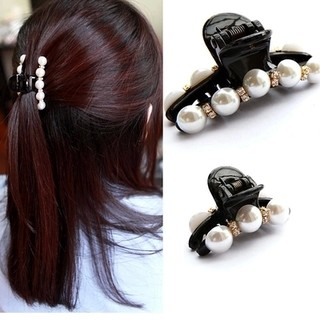 Know Richie Korean hair ornament hair ornament hairpin rhinestone faux pearls Korean bangs clip catch made by small medium clip