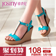 Zhuo Shini 2014 new metal-toe ultra-high stiletto Sandals platform casual wedges shoes 142238220