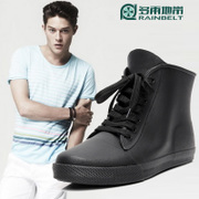 RAINBELT Korean leather strap low boots men's boots men's canvas tube fishing warm water shoes and wool