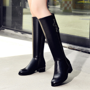Fall/winter love of the strange new female boots with chunky heels high boots boots boots Western leisure boots