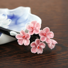 Qing song Jingdezhen porcelain jewelry handmade jewelry hairpins classical hand flower hairpin