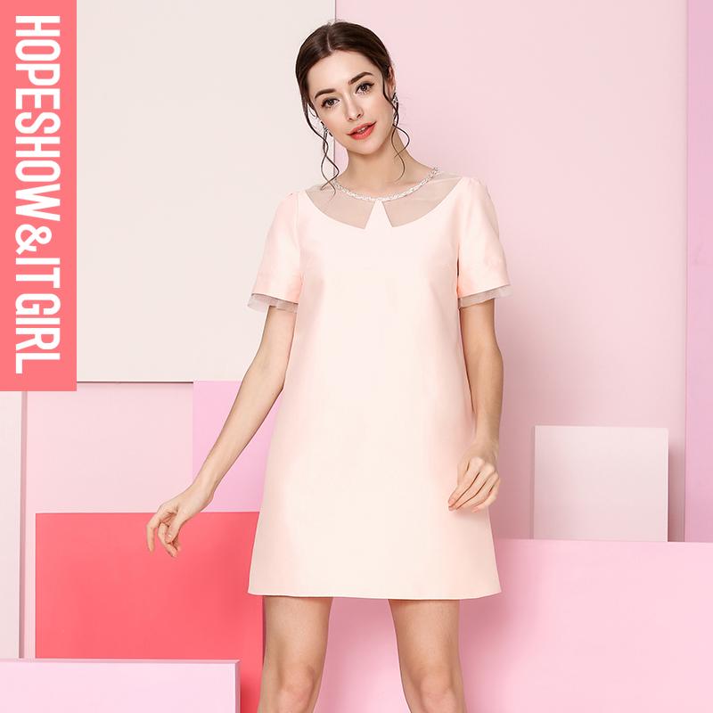 红袖2015春 韩版修身连衣裙百搭打底裙E8110651