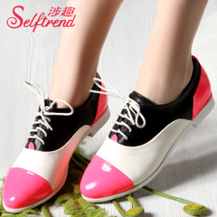 Interesting new England autumn wind-related increased fluorescence in the Candy-colored stitching point shoes women shoes T01019