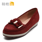 Shoebox shoe 2015 new simple bow flat women's shoes shoes asakuchi feet 1115404274