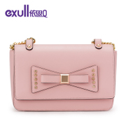 Exull q2015 new metal decoration cute bows mobile single diagonal shoulder women bag 15332151