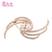 Baojing Crystal brooch corsage Korea Fireworks pin fashion jewelry women Mid-Autumn Festival teacher''s gift