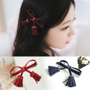 Know Connie hair tassels Butterfly first clamp rivet clamp Duckbill clip deerskin fabric fringe clip Barrette jewelry