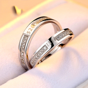 Full of ornaments you couple ring a ring 925 Silver jewelry rings men and women live creative lettering gifts