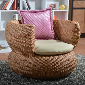 Water plant rattan rattan living room lazy sofa fashion series residential furniture round single rattan lounge chair