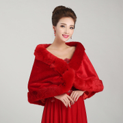 Shawls bridal shawls Bridal Accessories hair red shawl wedding dress new wool shawl shawls in autumn and winter
