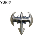 YUKI men''s white fungus nails 925 Silver European and American fashion men''s accessories single ear Ding Taiyin bat girl silver jewelry