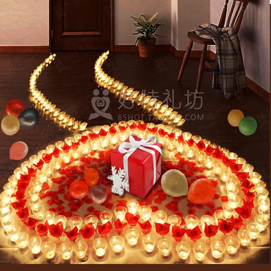 结婚纪念日礼物送老婆老公男友女友情侣恋爱周年浪漫装饰布置套餐